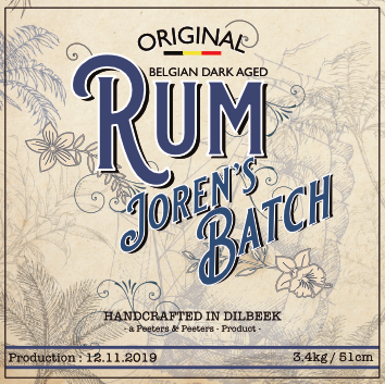 MADI Premium Dark Aged Rum Personalized Label